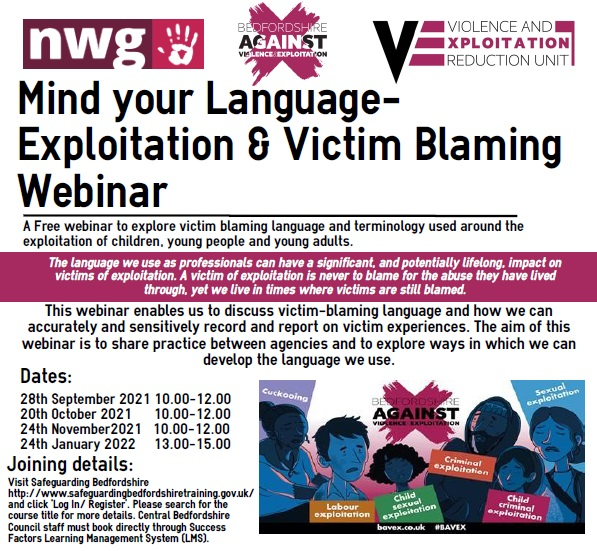 A leaflet advertising mind your language briefings
