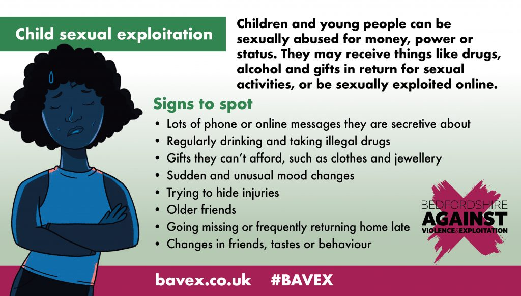 Child sexual exploitation spot the signs