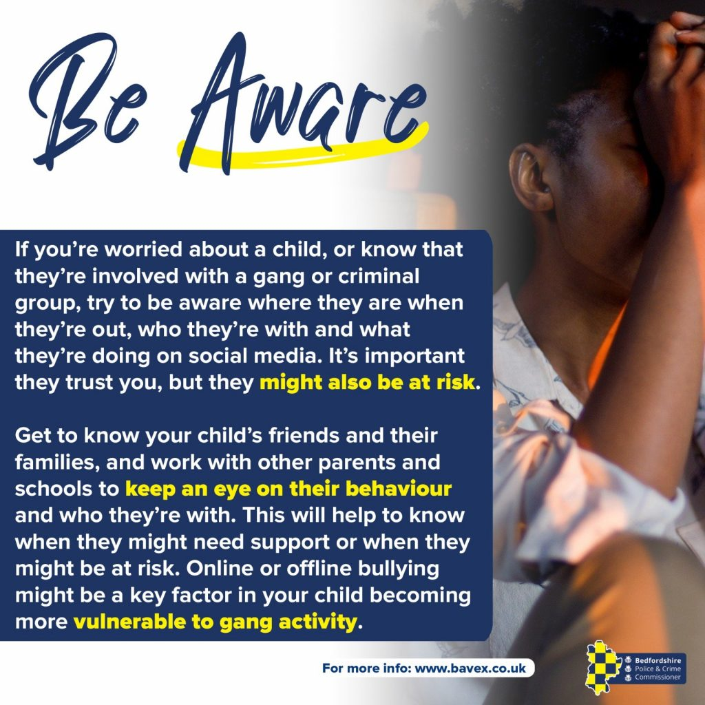 Be aware graphic